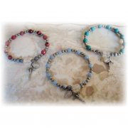 Childrens' Miraculous Medal Stretch Rosary Bracelets