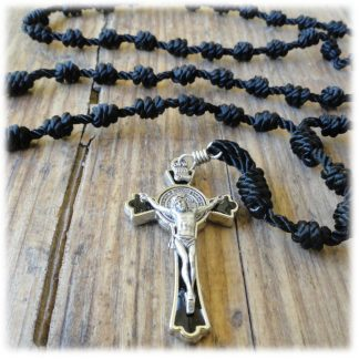 Cord & Wood Bead Rosaries